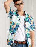 Homme Superdry Chemise Hawaïenne Coupe Droite  | Chemises Casual